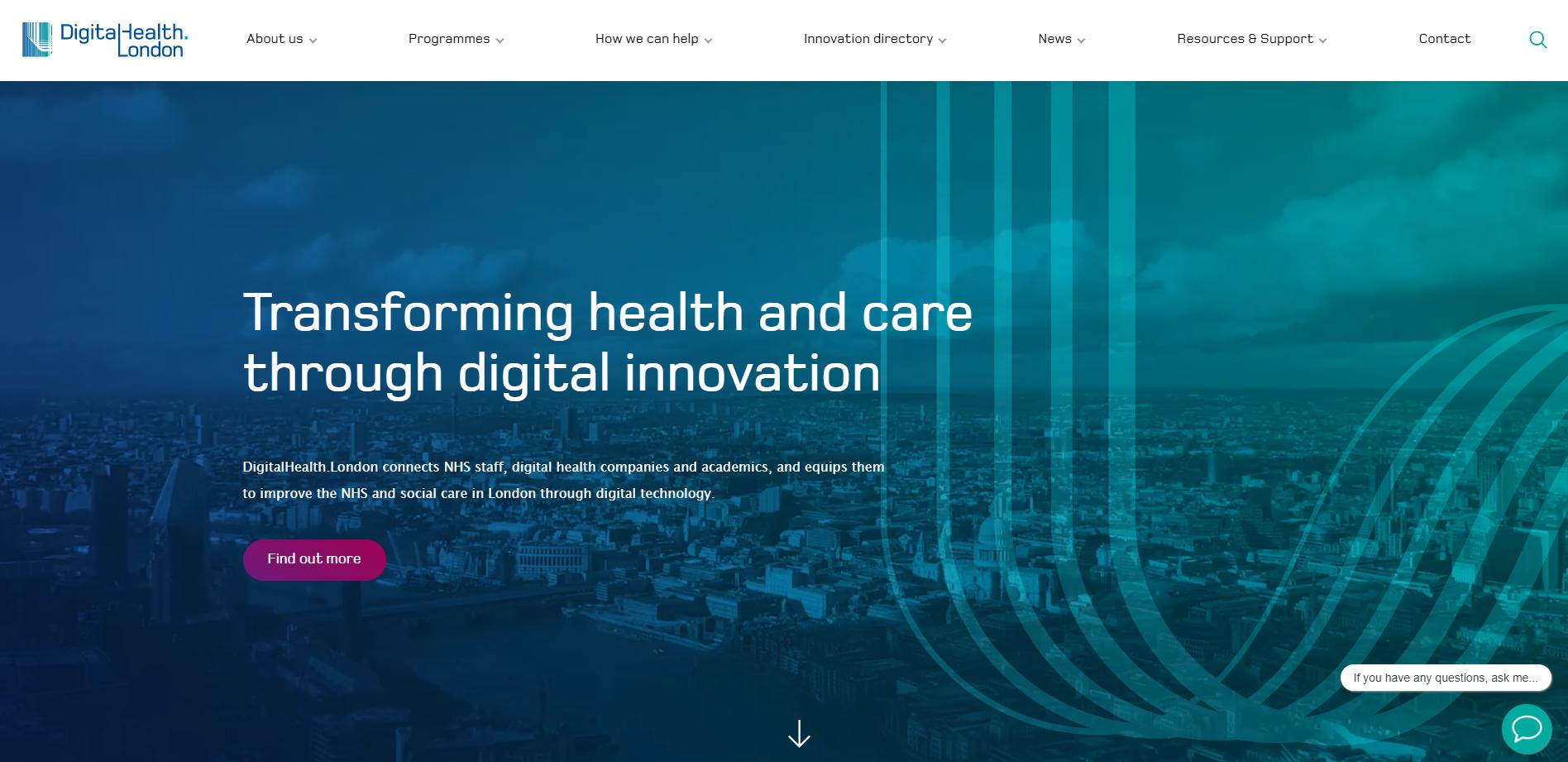 DigitalHealth.London homepage